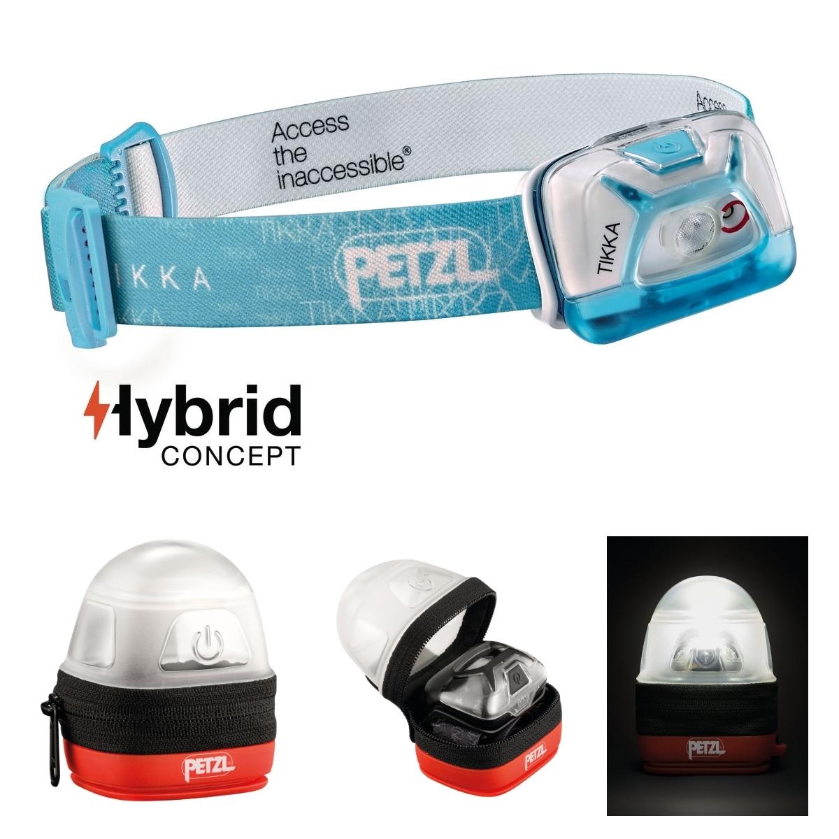 Petzl Tikka Noir Incl noctilight Protection-étui et batteries-max 200 lm