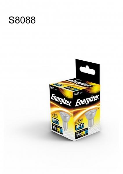 energizer led leuchtmitte gu10 3 8 watt 250 lumen warm wei. Black Bedroom Furniture Sets. Home Design Ideas