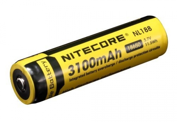 nitecore li ionen akku 18650 ic protected 3100 mah nl188. Black Bedroom Furniture Sets. Home Design Ideas