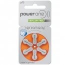 Powerone Zink Luft Hörgeräte Batterie P13 - V13 Orange - 6 Batterien - 1 Blister