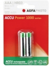 Agfa Photo Akku NiMH Micro AAA HR03 900 mAh 2er Blister